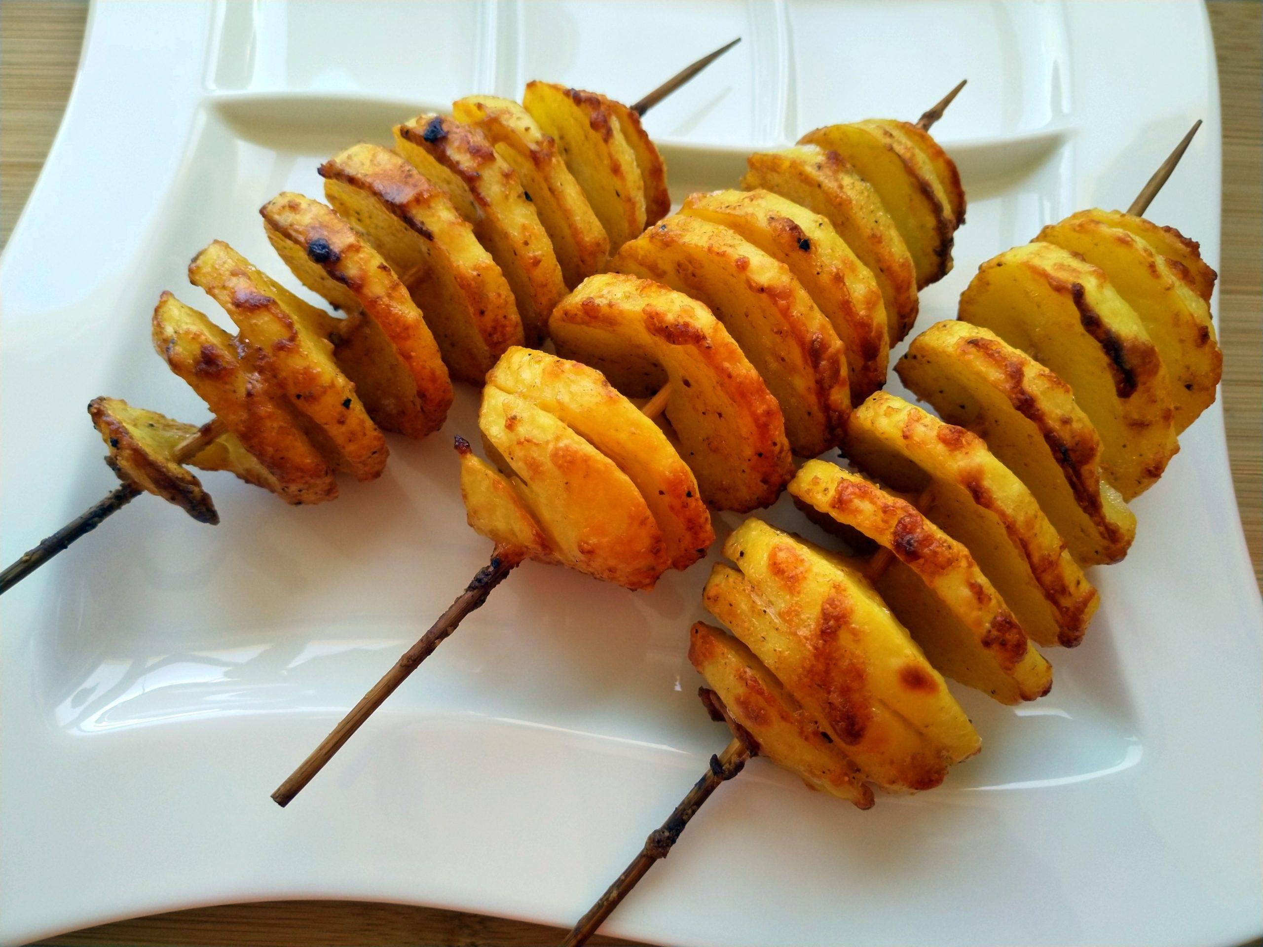 Kartoffelspiralen mit Parmesan