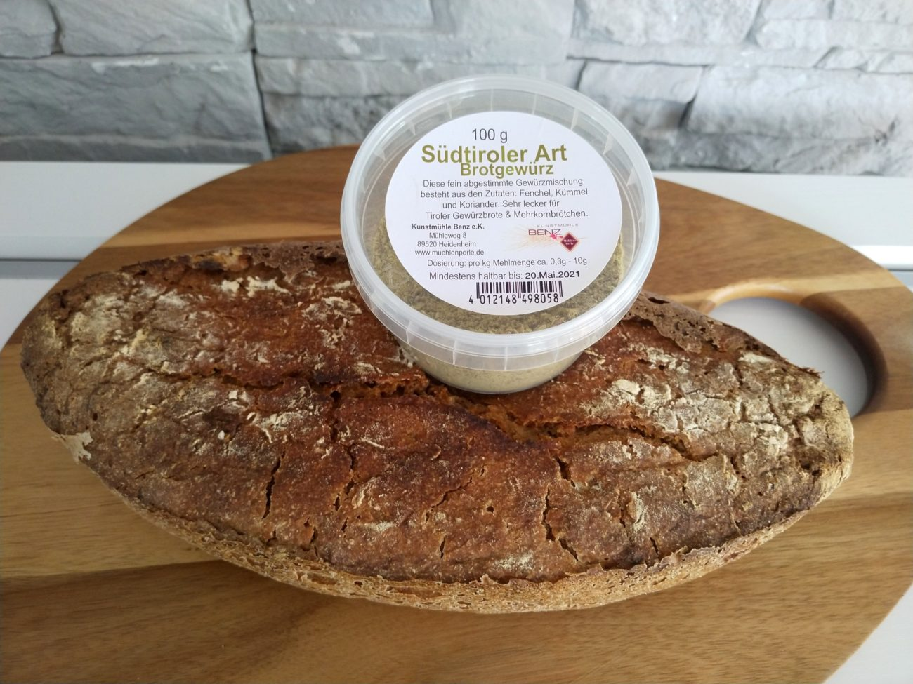 Roggenmischbrot mit Südtiroler Brotgewürz