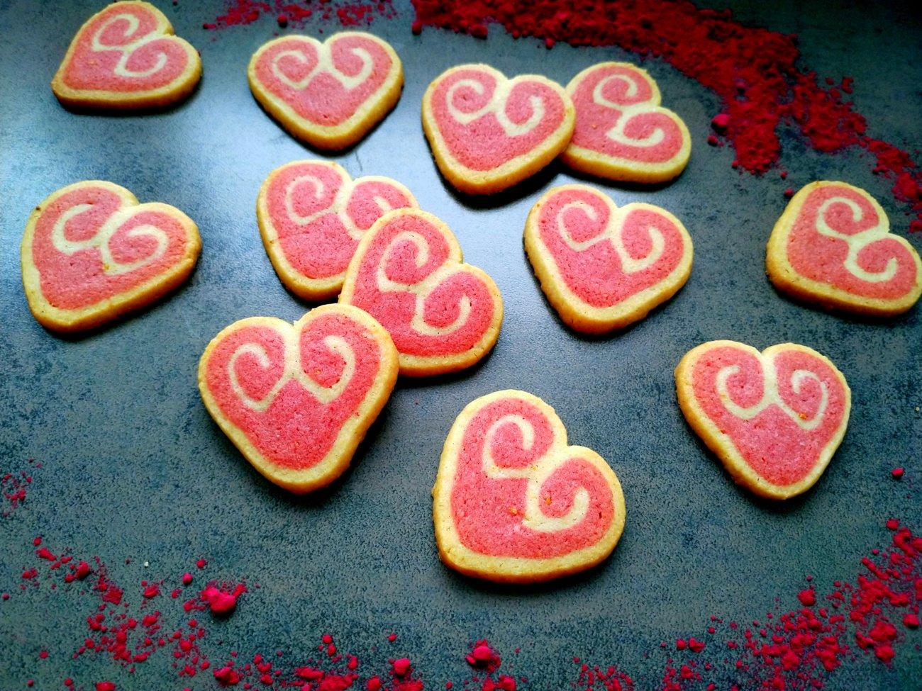 Herz-Kekse zum Valentinstag