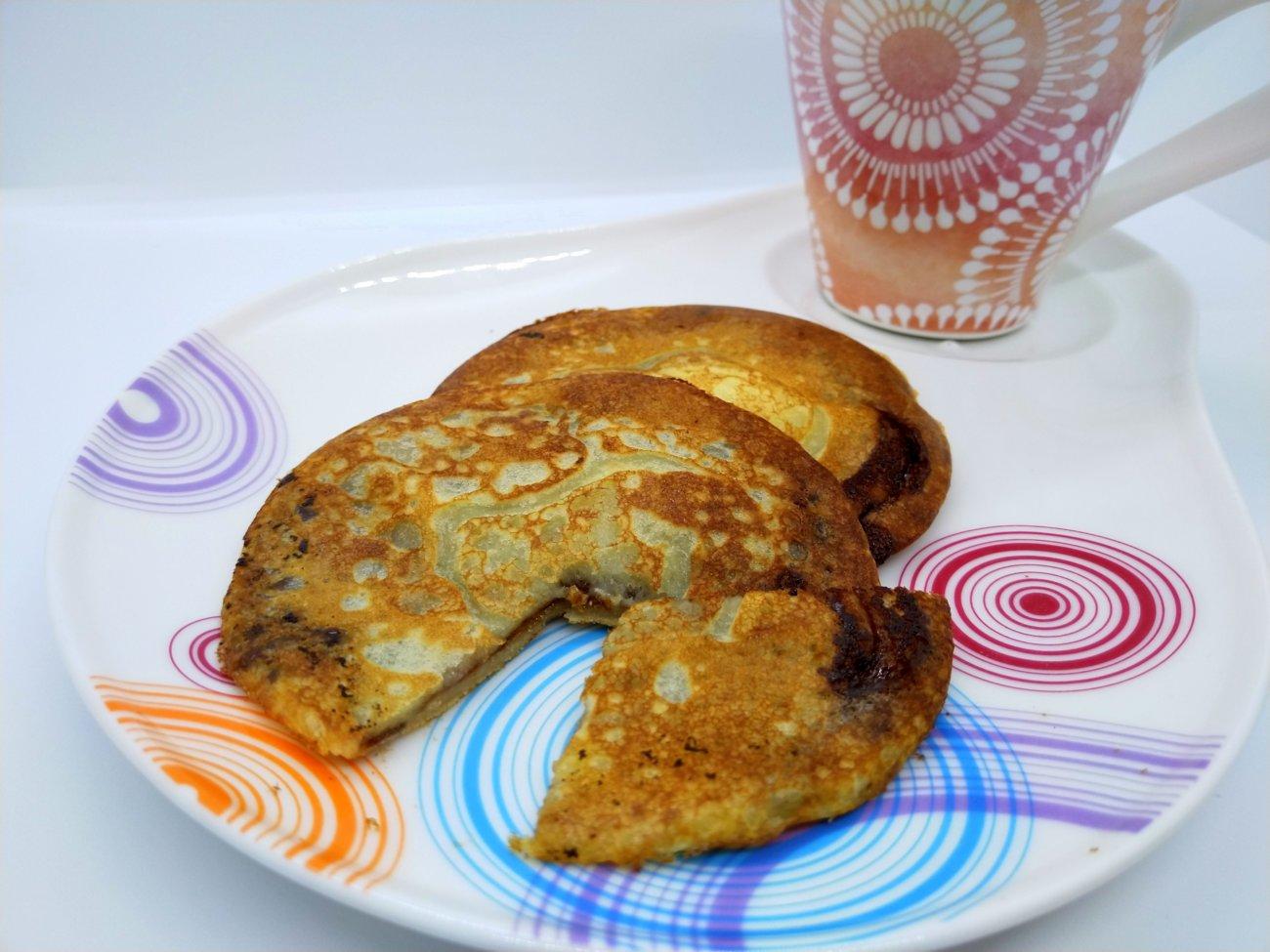Buttermilk Pancakes mit Nutella-Füllung